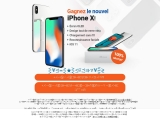 Gagnez le nouvel iPhone X BE